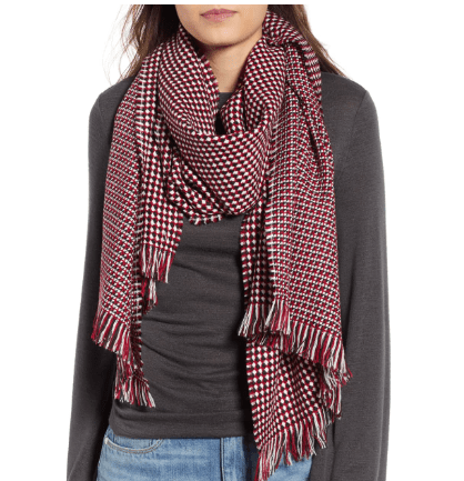 women's waffle scarf