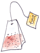 drawing of tea bag