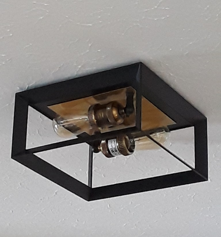 a ceiling fixture is installed