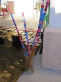 Painted saguaro sticks