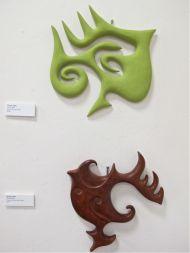 "Wendy Allen, ""Green Mud"" and ""Wood Head"""