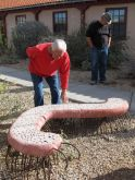 Centipede Bench created by Sherri O'Hare in 2011. Polished concrete and rebar.