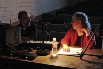 Aaron Mayson (Sound & Lights) and Sherri O'Hare (Co-producer)