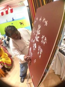 Mr. Bengde, the Warli Artist