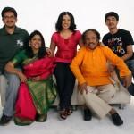 Kavita Krishnamurthy with family