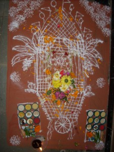 Rangoli of Ratha