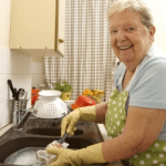 Elderly Lady Working at Home