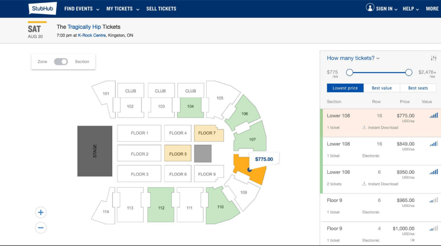 Hip tickets Kingston StubHub