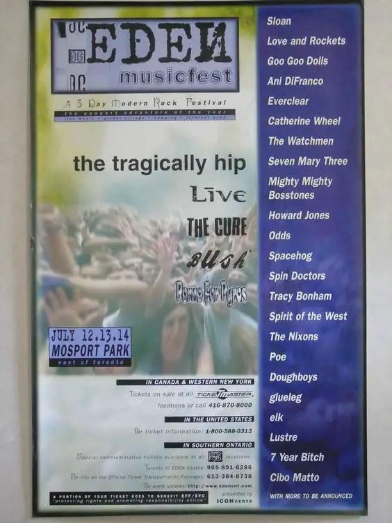 Edenfest 1996 - Poster