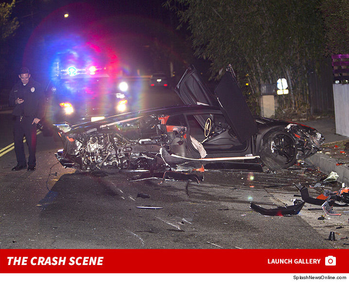 Chris Browns luxury auto found wrecked