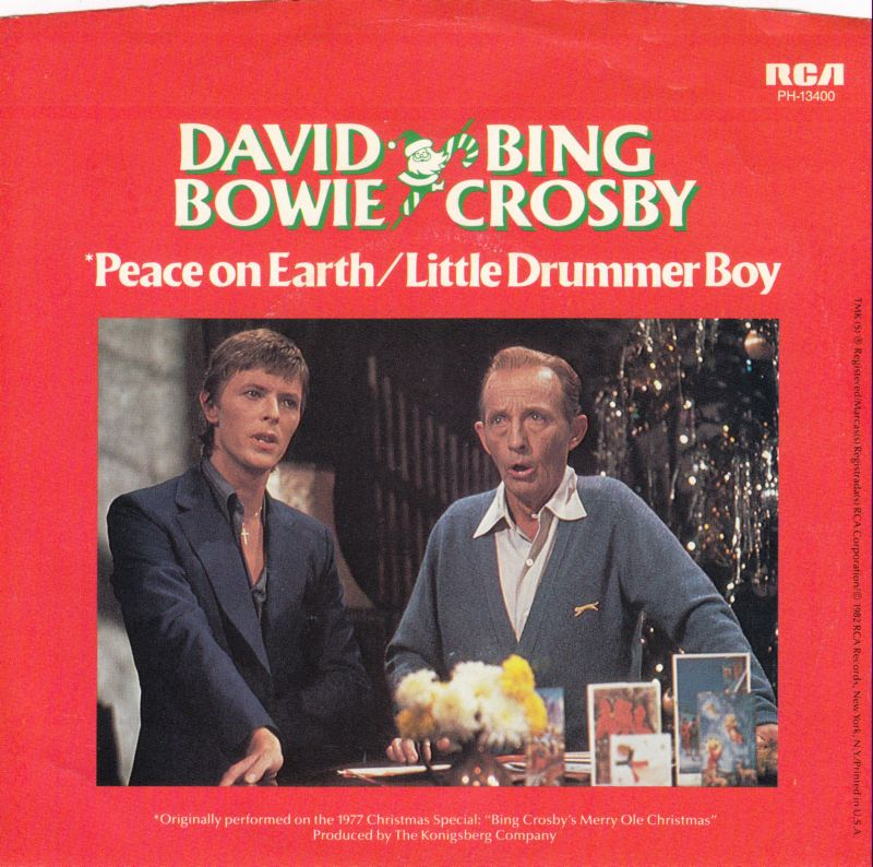 little drummer boypeace on earth has since become a christmas classic charting every single year in both the us and uk - David Bowie Christmas