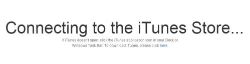 Connecting to the iTunes Store