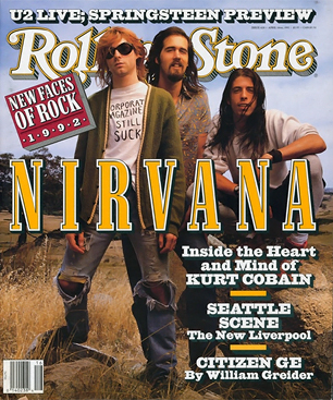 3addd0993898 For now, Nirvana leader Kurt Cobain and his new wife, Courtney Love, live  in an apartment in Los Angeles's modest Fairfax district.