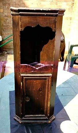 little corner cupboard, upcycle, painting, furniture, home decor,