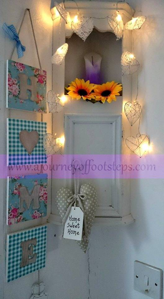 little corner cupboard, home decor, upcycle, recycle, painting, Rhianna, Fairy lights, Anne Sloan Chalk Paint,