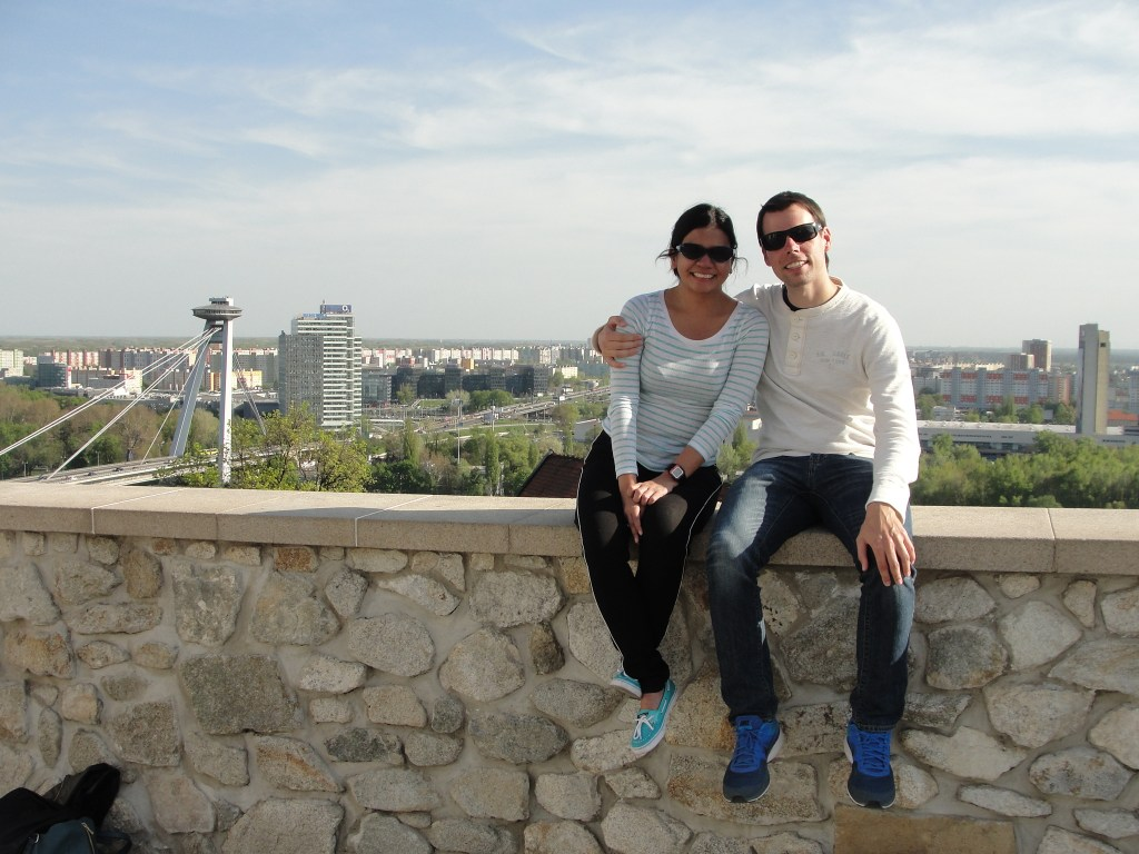 Petrzalka and Nove Mesto from Bratislava Castle