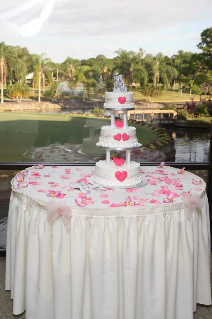Our delicious wedding cake!