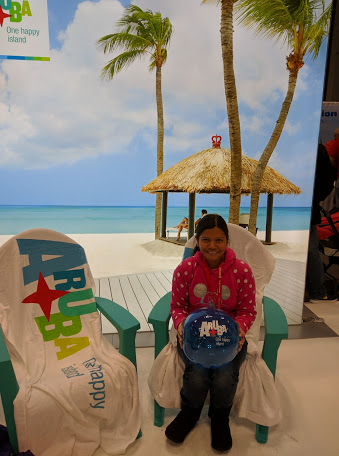 At the Aruba Booth - NY Times Travel Show