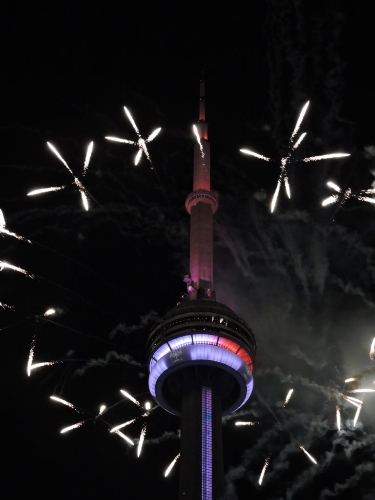 Fireworks over CN Tower