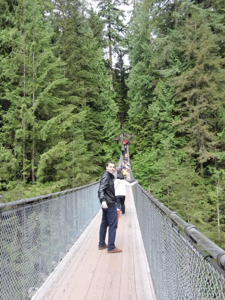 Peter at Capilano Suspension Bridge