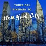3 Day New York City Itinerary (52 WW)