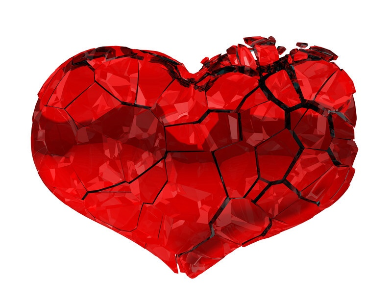 I guess there really is such a thing as a broken heart 💔