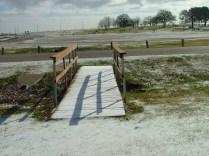 Snow covered bridges