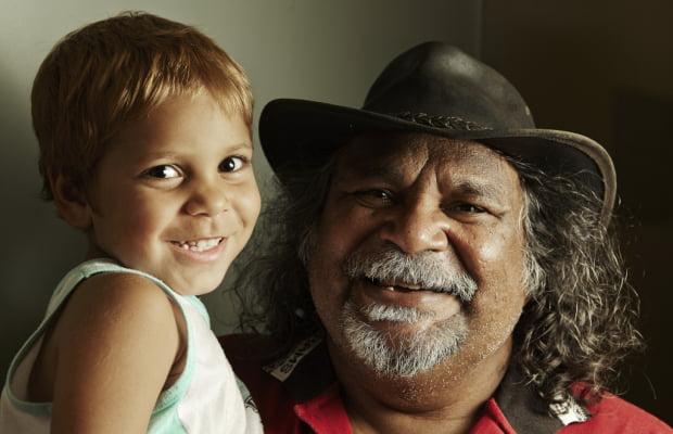 Aboriginal man and child: close the gap