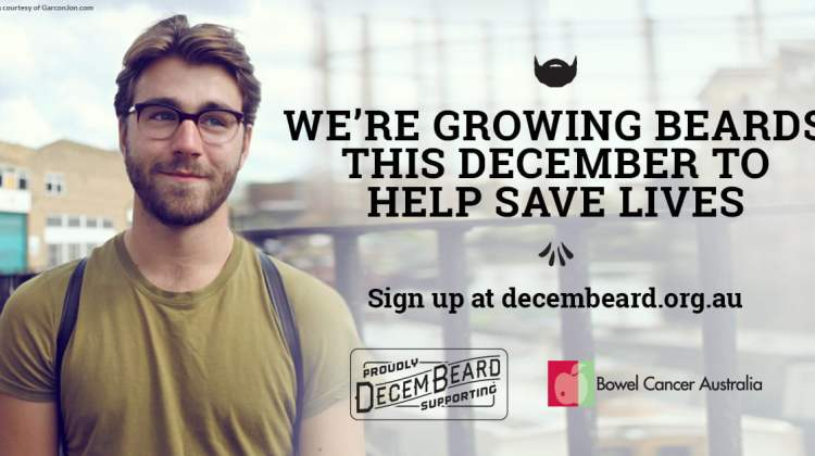 Decembeard collateral banner, shows man with beard