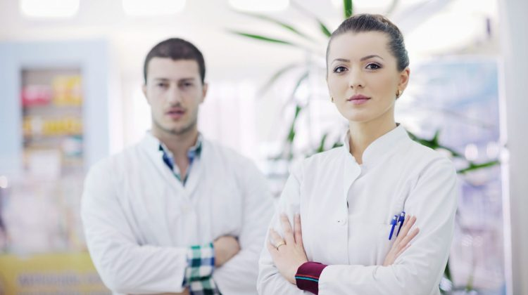 two young pharmacists