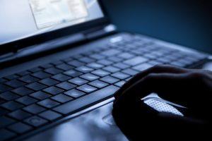 dark computer laptop