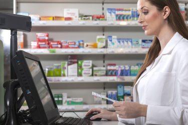 pharmacist computer laptop technology digital my health record