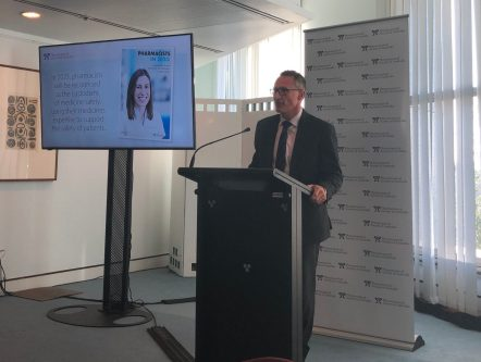 Senator Richard Di Natale speaks at the PSA's Pharmacists in 2023 report launch.