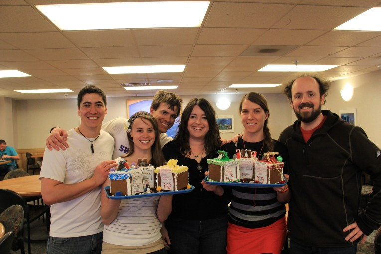 Our Gingerbreadding Team: Abe, Bev, Travis, Cassa, Elisha, and Ben. © A. Padilla
