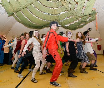 Halloween Party Feature Performance: The Zombie Dance, with our esteemed janitors, dining assistants, and stewards. © R. Piuk