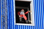 Even Santa comes out to watch Ice Stock and relax in Antarctica. © A. Padilla