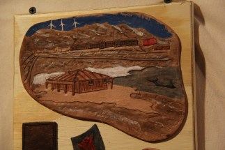 MAAG Exhibit I: Leatherwork, Discovery Hut, Winter Quarter's Bay, and McMurdo Station. Artist: I Can't Remember. © A. Padilla