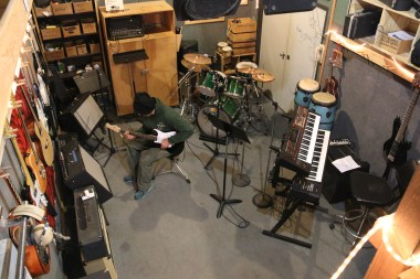 McMurdo Station's Band Room: small space, big musical potential!