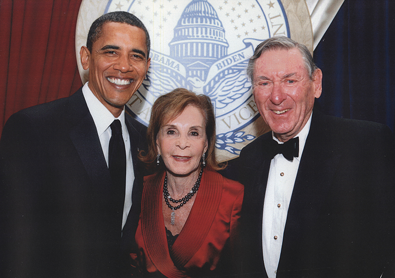 President Barack Obama, Renee Crown, Lester Crown, 2009