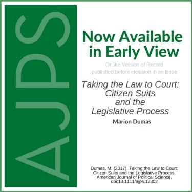 AJPS Blog - Citizen Suits and the Legislative Process