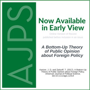 A Bottom-Up Theory of Public Opinion about Foreign Policy