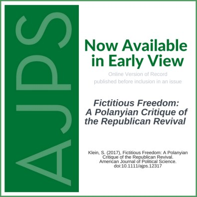 Fictitious Freedom: A Polanyian Critique of the Republican Revival