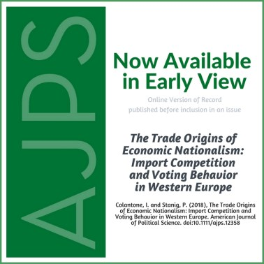The Trade Origins of Economic Nationalism: Import Competition and Voting Behavior in Western Europe