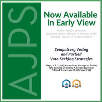 Compulsory Voting and Parties' Vote‐Seeking Strategies