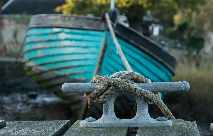 Boat with a shallow depth of field