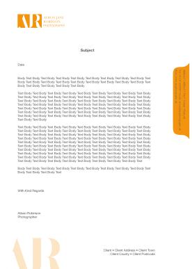 Letterhead with draft copy