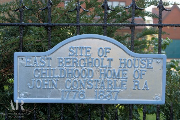 Plaque at the site Constable's childhood home.