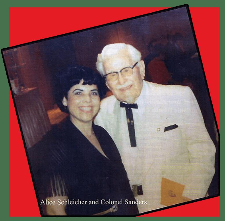 Colonel Sanders and Alice Schliecher photograph