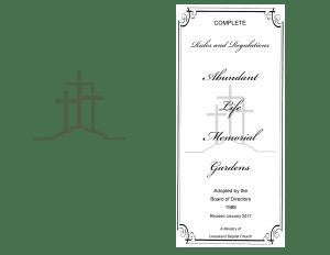 Abundant Life Memorial Gardens Rules and Regulations