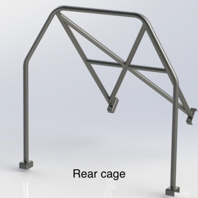 AUSTIN A35 (Half Cage) 6 Point Bolt in Roll Cage